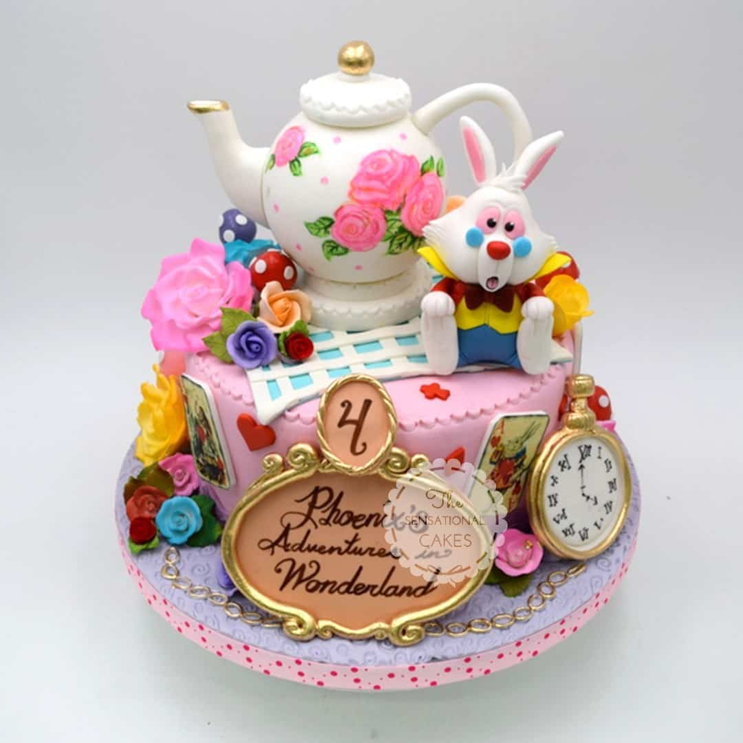 Outstanding Alice In Wonderland Cakes Choosing The Best Designs For Your Personalised Birthday Cards Cominlily Jamesorg
