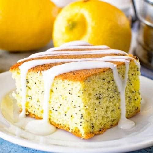 lemon poppy seed cake light glaze