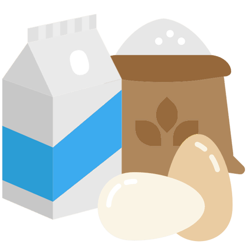 Milk egg flour