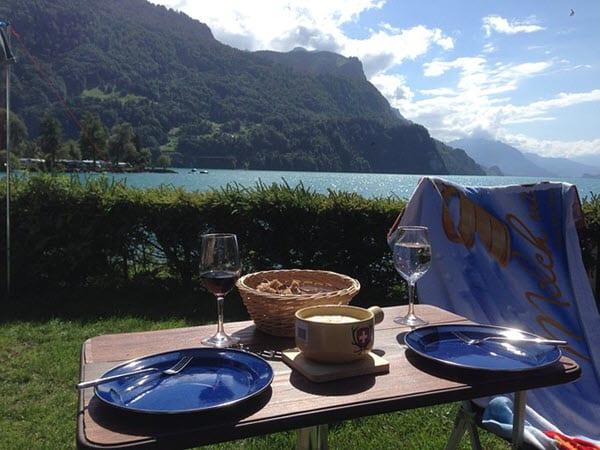 using fondue outside